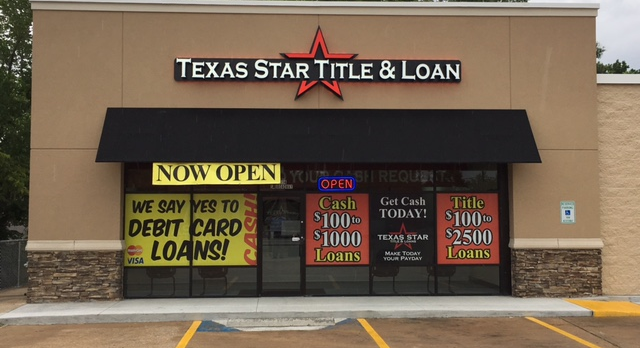 Title, payday and cash loans.Longview-Mineola. East Texas